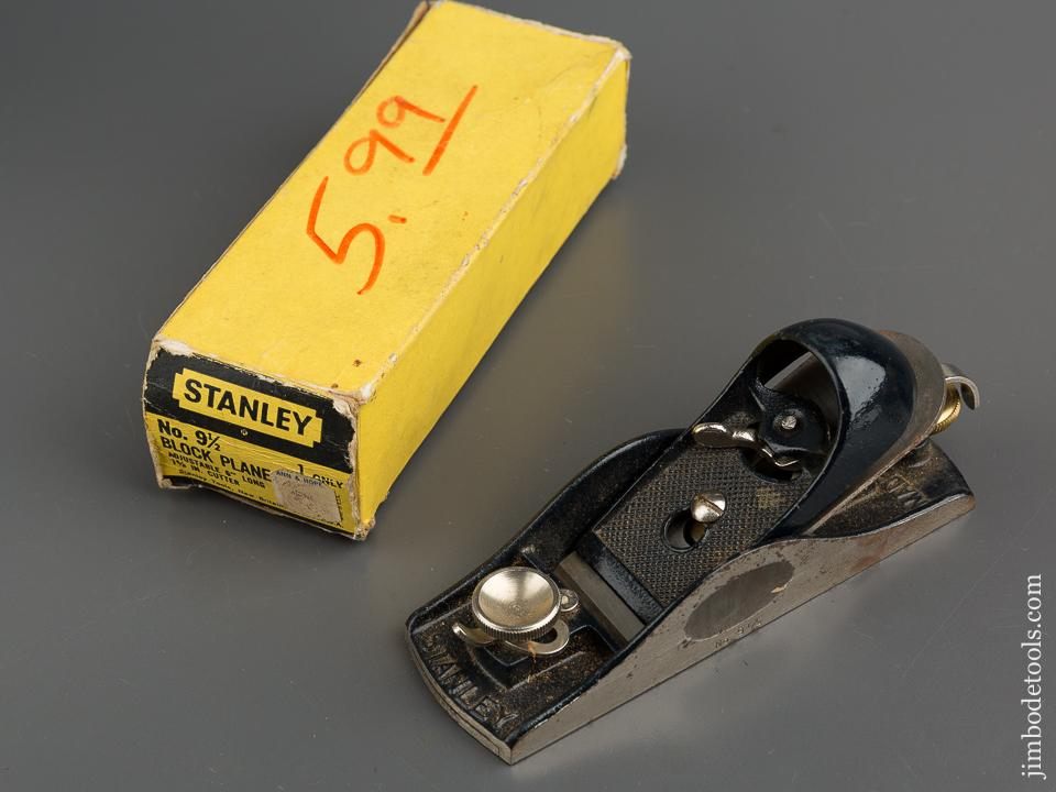 STANLEY No. 9 1/2 Block Plane FINE in Original Box - 79602