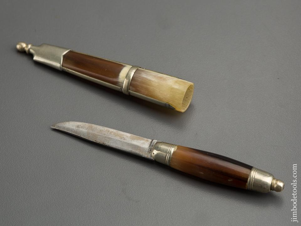 Fancy Beautiful Buffalo Horn and German Silver Gentleman's Desk Knife - 79611