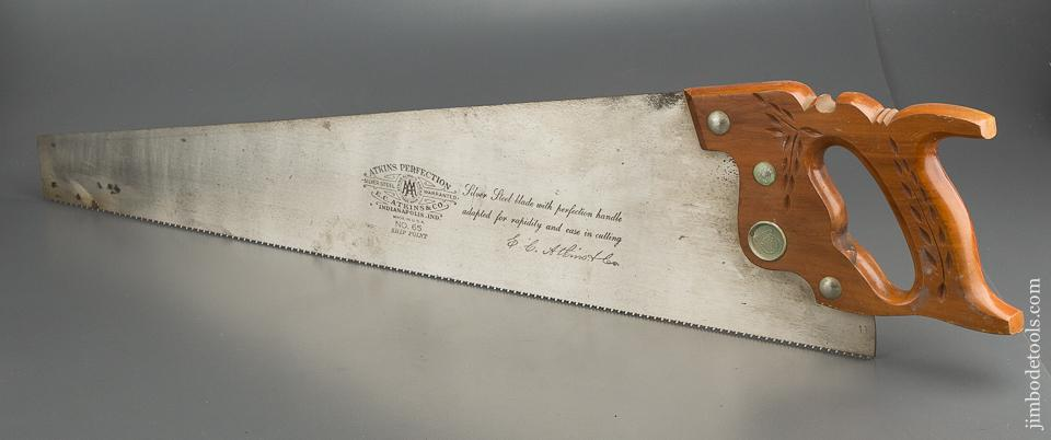 UNUSED! 11 point 26 inch Crosscut ATKINS PERFECTION No. 65 Hand Saw - 79621