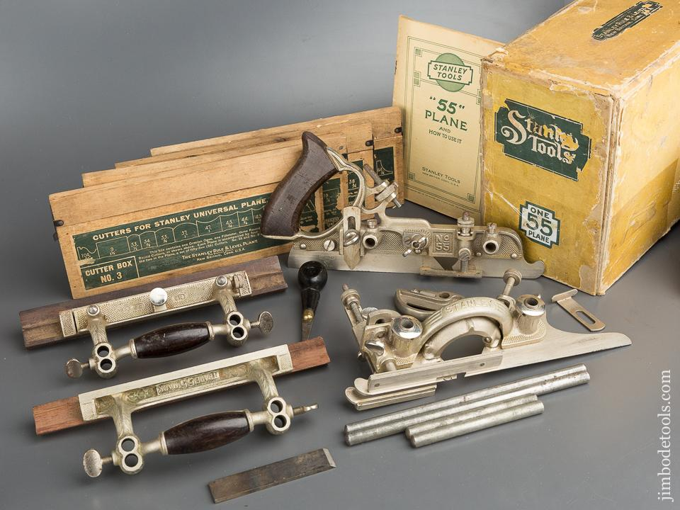 STANLEY NO. 55 Combination Plane NEAR NEW and 100% COMPLETE in Original Box - 79635