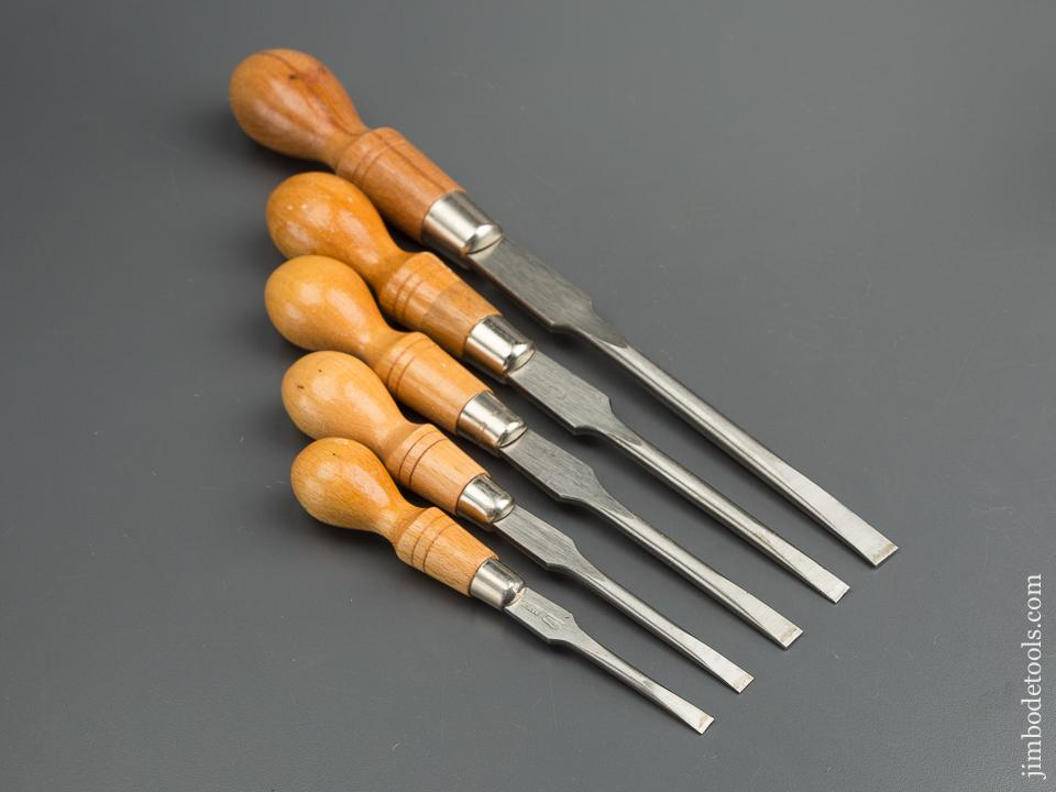 Set of Five FOOTPRINT Cabinet Maker's Screwdrivers - 79652