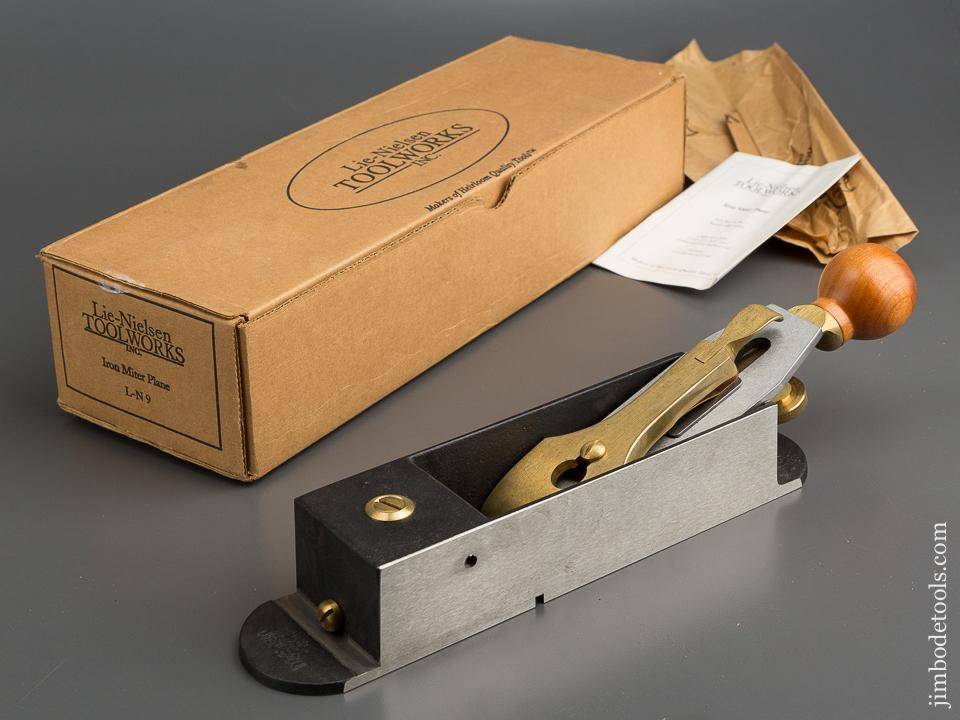 BRIDGE CITY TOOL WORKS L-N 9 Iron Miter Plane MINTY in Original Box - 78716