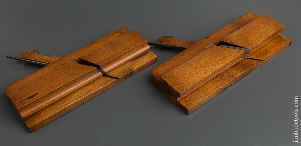 Matched Pair of 1/2 inch Fenced GARDNER & MURDOCK GREEN STREET BOSTON Drop Leaf Table Joint Planes circa 1825-41 EXTRA FINE - 79727
