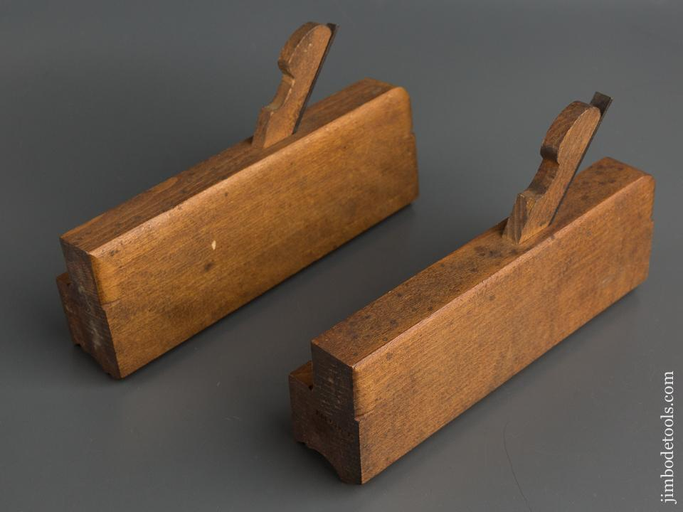 Pair of H. CHAPIN UNION FACTORY Thumbnail Molding Planes circa 1828-97 FINE 79739