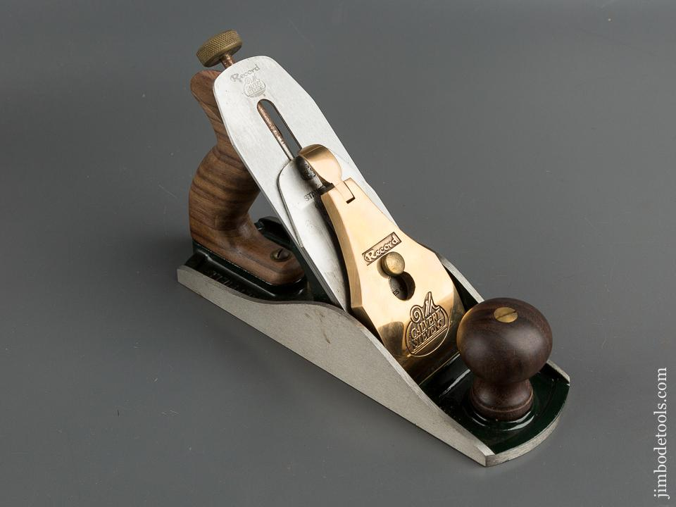 RECORD CALVERT STEVENS No. 88 Heavy Smooth Plane in its Original Wooden Box with Instructions - 79794