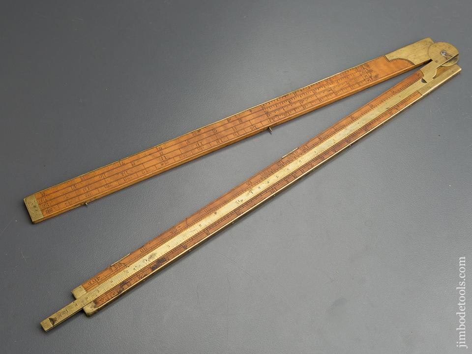 Rare! A. STANLEY & CO. TYPE ONE No. 14 Carpenter's Slide Rule with Gunter's Scales - 79815R