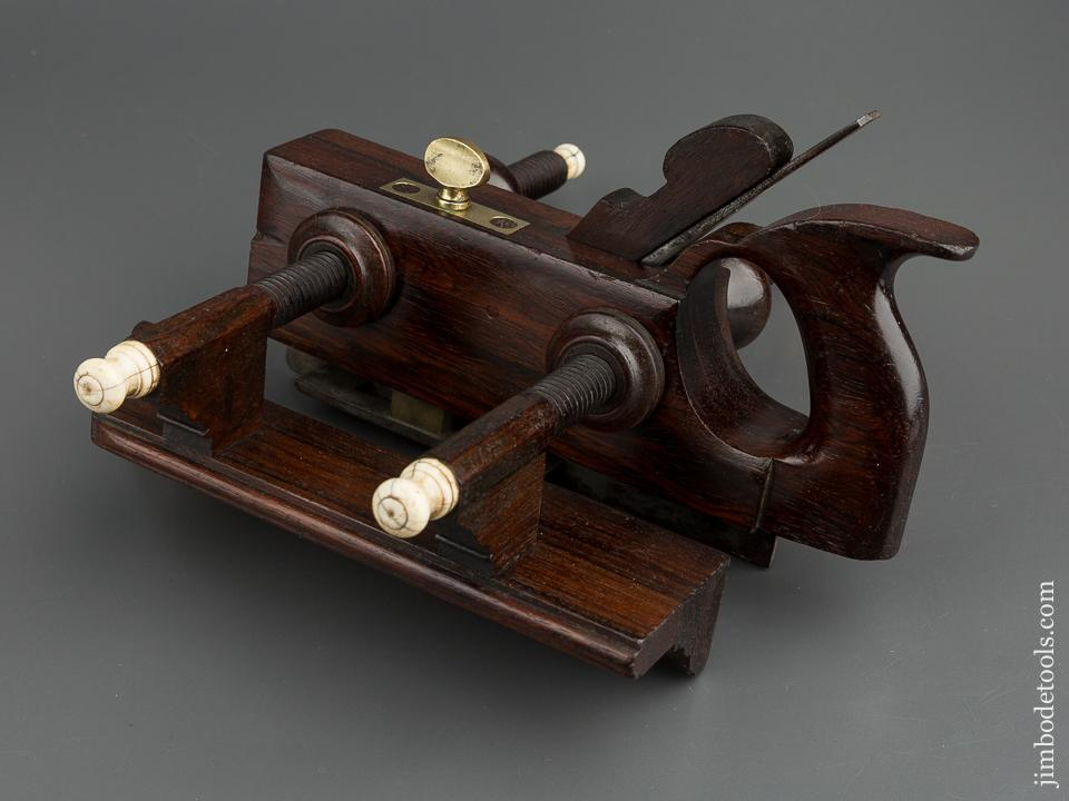 Magnificent Brazilian Rosewood Plow Plough Plane by D.R. BARTON circa 1823-1918 Rochester, NY - 79906U