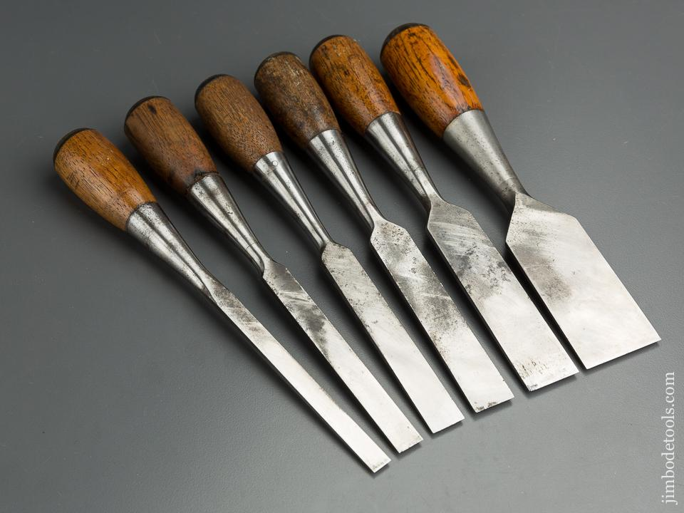 Great Set of Six STANLEY No. 5 EVERLASTING Chisels - 79910