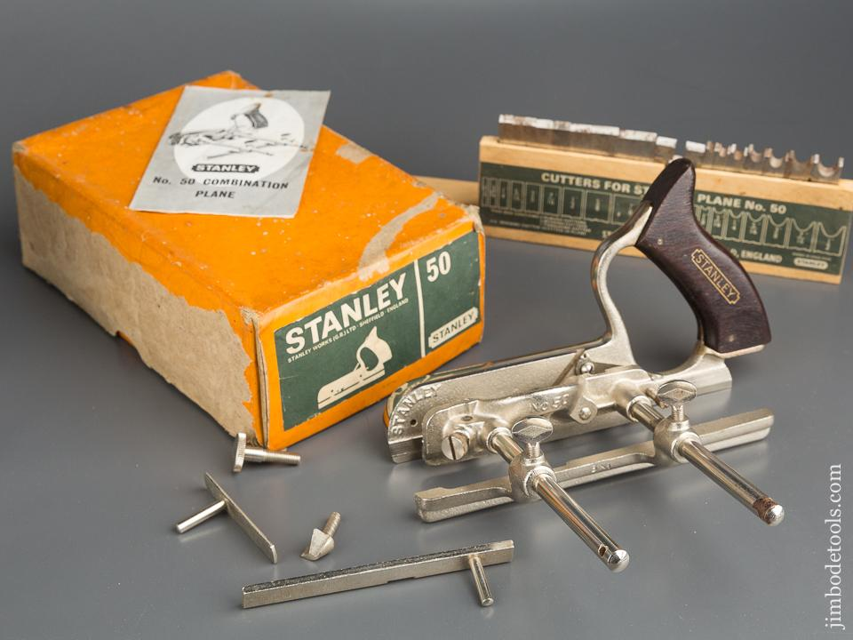 STANLEY No. 50 Light Combination Plane 100% COMPLETE in Original Box - 79937