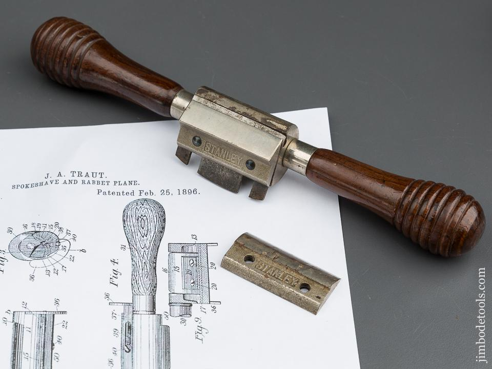 TRAUT'S Patent February 25, 1896 STANLEY No. 67 Universal Spoke Shave with Both Round and Flat Bottoms - 79946