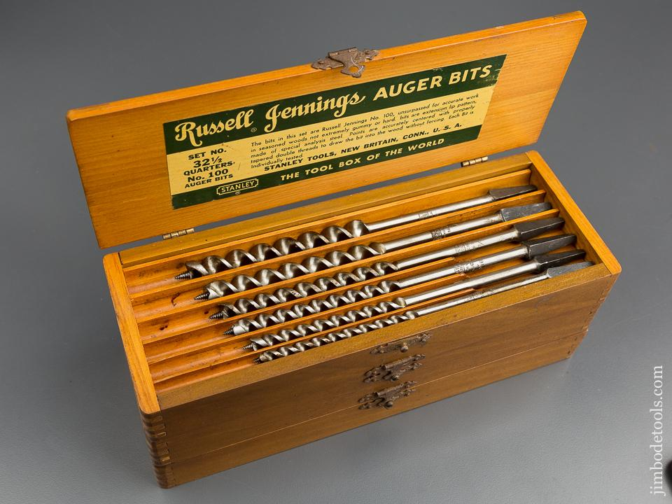 Complete Set of 13 RUSSELL JENNINGS Auger Bits in Original 3 Tiered Box - 79961
