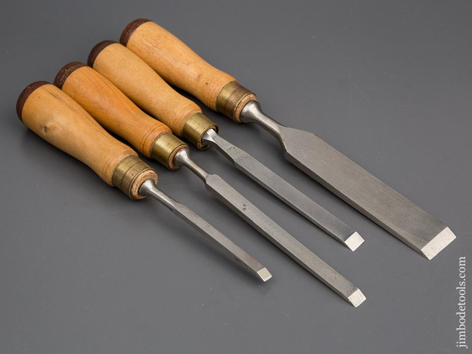 NEW OLD STOCK! Set of Four JAMES SWAN Chisels UNUSED-  80197
