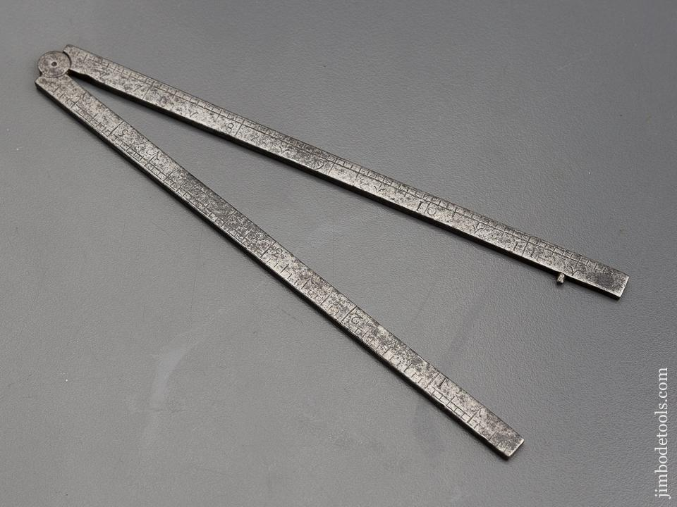 17th Century Iron Folding Rule - 80265U