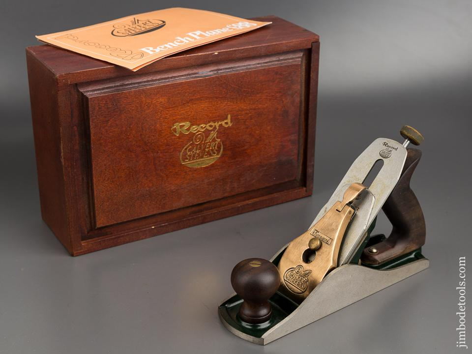 RECORD CALVERT STEVENS No. 88 Heavy Smooth Plane NEAR MINT in Original Wooden Box with Instructions - 80433