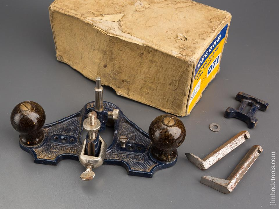 RECORD No. 071 Router Plane 100% COMPLETE in Original Box - 80434