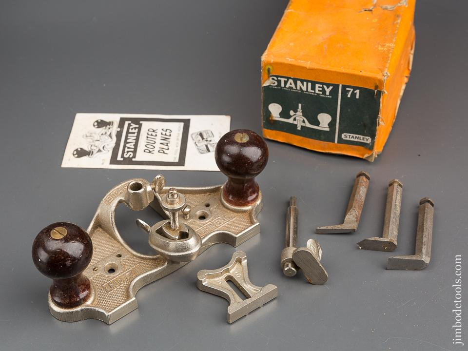 STANLEY No. 71 Router Plane 100% COMPLETE in Original Box -80486