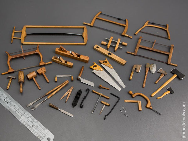 32 Well-Made Miniature Wood & Steel Tools! * 80630