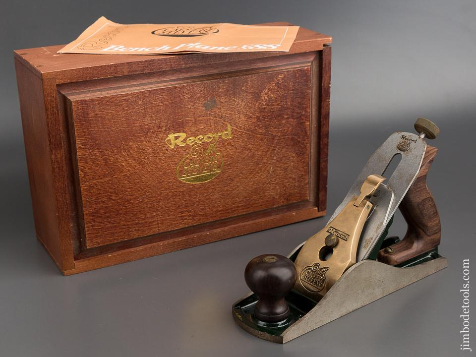 RECORD CALVERT STEVENS No. 88 Heavy Smooth Plane in Original Wooden Box with Instructions -80735R