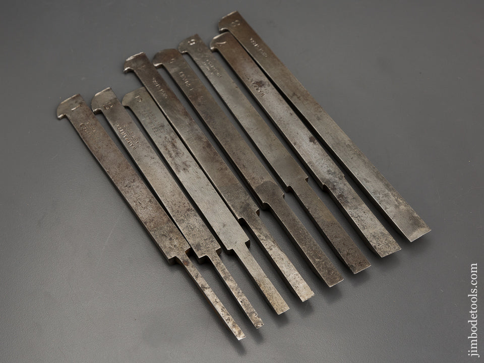 Good User Plow Plane Iron Set Numbered 1-8 Mixed Maker - 80989