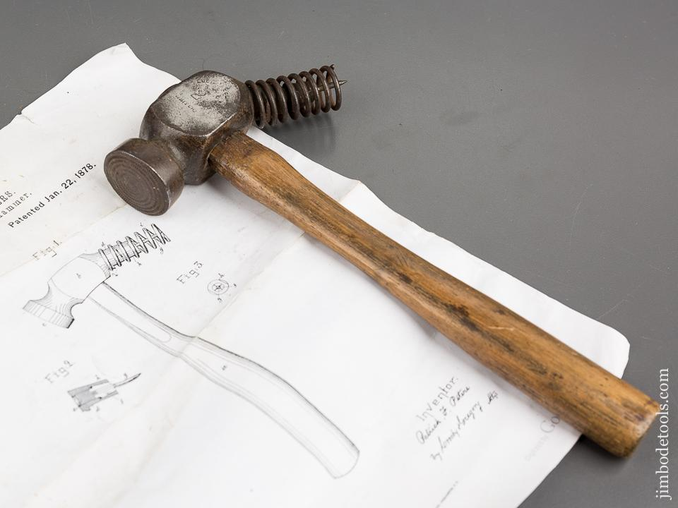 Rare PETERS January 22, 1878 Patent WHITCHER No. 2 Lasting Hammer - 81385R