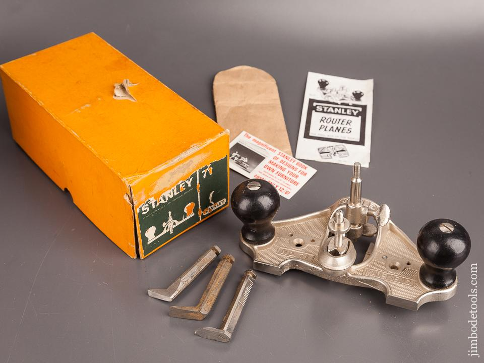 100% Complete! STANLEY No. 71 Router Plane DEAD MINT in Original Box  82294