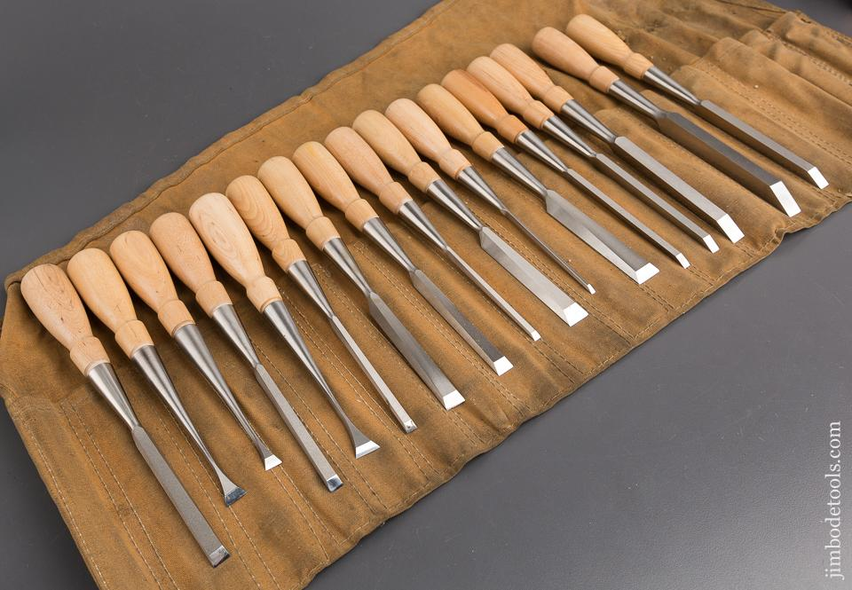 COMPLETE Set of 17 LIE-NIELSEN Chisels in Roll - 82707