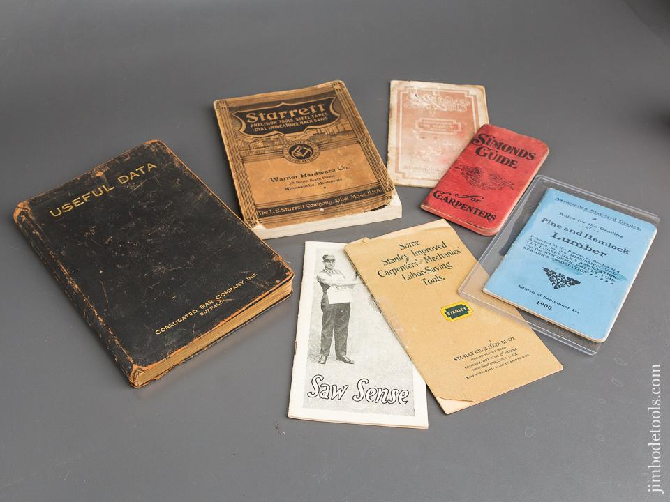 Books:  Seven Original Vintage Tool Related Publications, Catalogues, Etc. - 82756