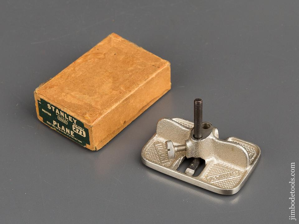 STANLEY No. 271 Miniature Router Plane MINT in Original Box - 82877