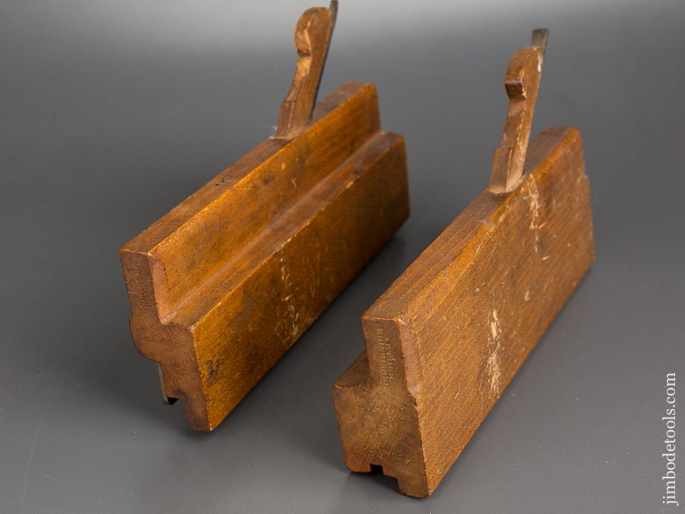 Pair of Tongue & Groove Moulding Planes by ARTHUR EDIBURGH circa 1793-1844 FINE - 82910