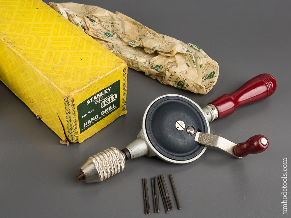 STANLEY 100 PLUS No. 1611 Hand Drill MINT in Original Box - 82931