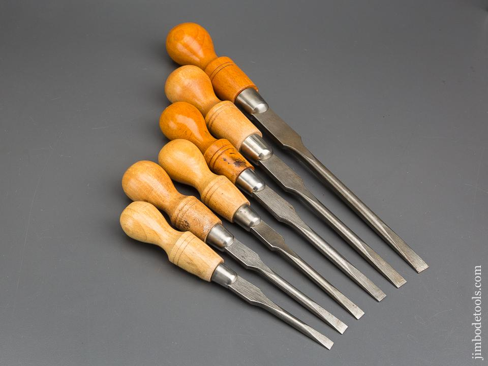 Set of Six Cabinet Maker's Screwdrivers by. CLAY SHEFFIELD with Decals - 82939