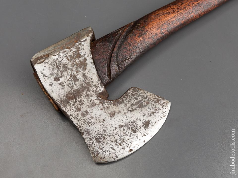 Gorgeous European Double Bevel Axe Dated 1812! - 82983U