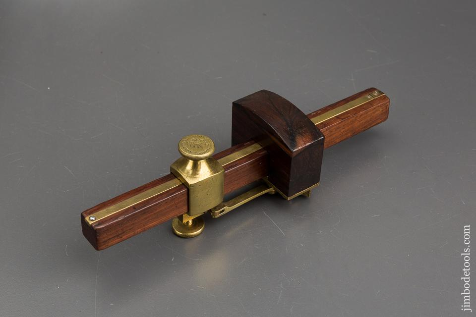 EXTRA FINE 8 1/2 inch BLAISDELL Patent July 23, 1868 Rosewood & Brass Marking Gauge - 83024