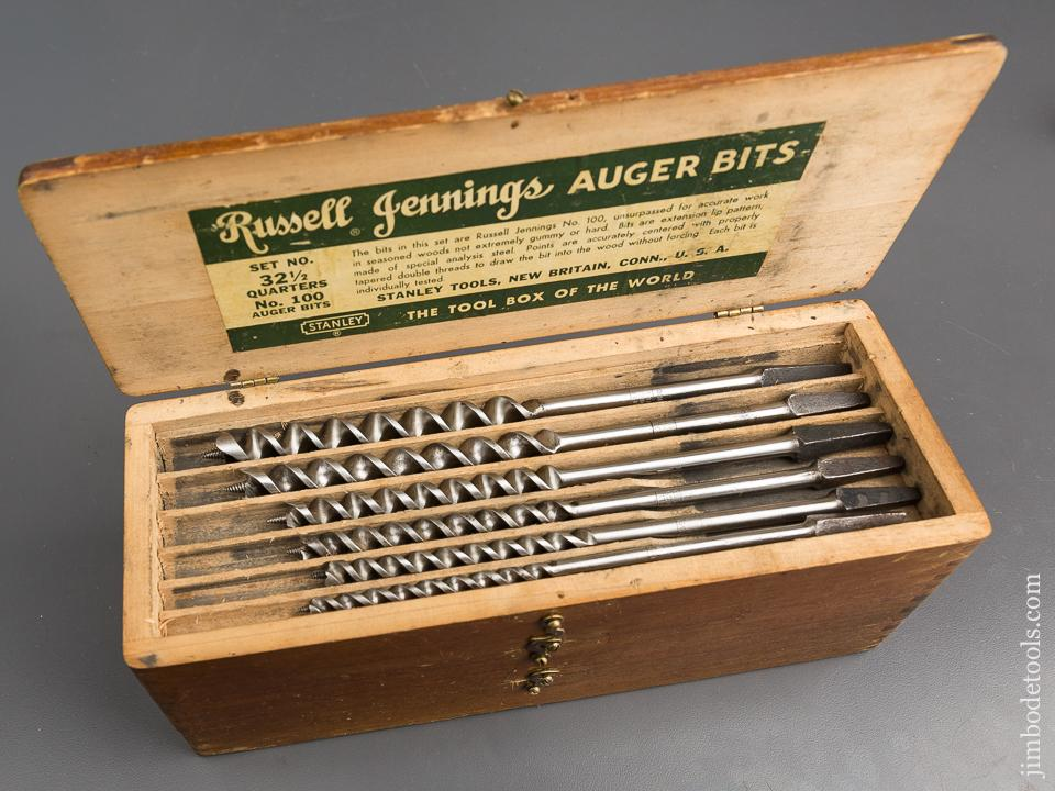 Complete Set of 13 RUSSELL JENNINGS Auger Bits in Original 3 Tiered Box - 83162