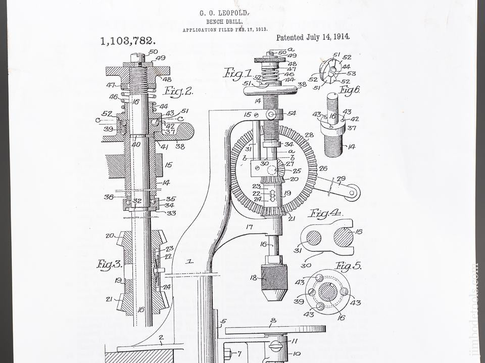 LEOPOLD Patent July 14, 1914 YANKEE No. 1003 Automatic Feed Bench Drill by NORTH BROS. = 83249