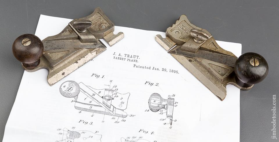 TRAUT Patent January 29, 1895 STANLEY No. 98 & 99 Side Rabbet Planes - 83253