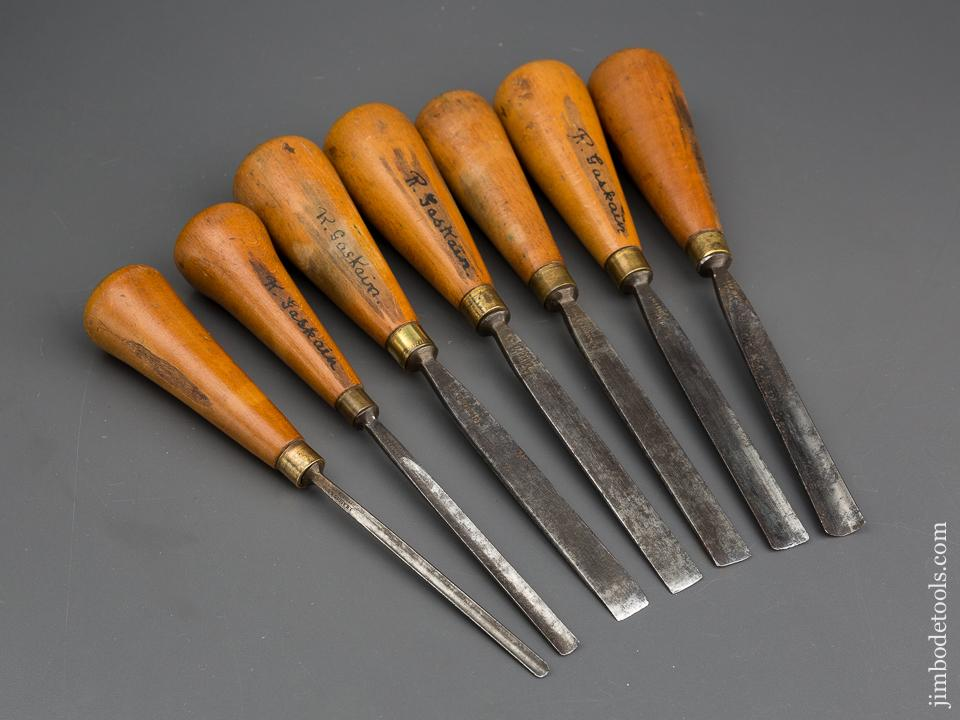Seven ADDIS Carving Gouges - 833298