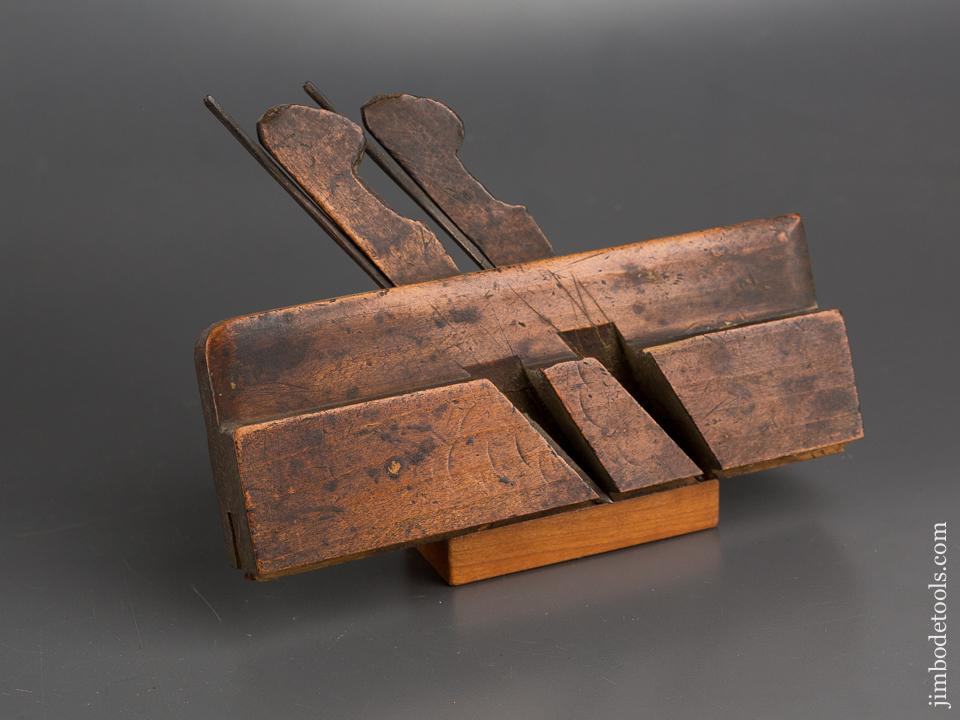 Miniature 7 1/2 inch Double Iron, Double Bead Coach Maker's Plane by D. MALLOCH PERTH circa 1850-1913 - 83375R