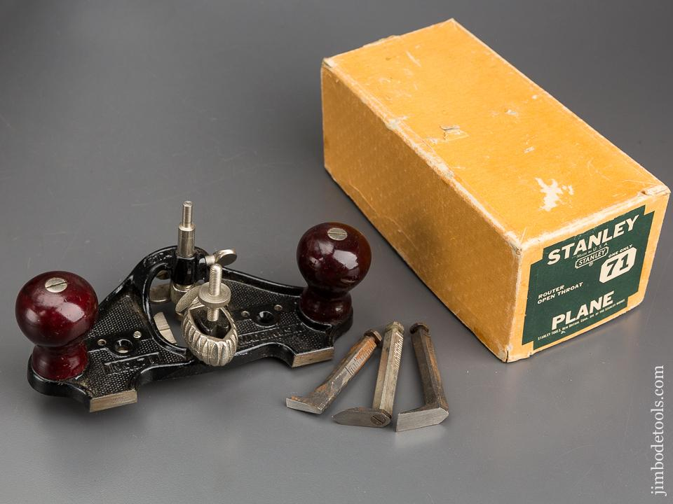 100% Complete! STANLEY No. 71 Router Plane MINT in Original Box - 83397
