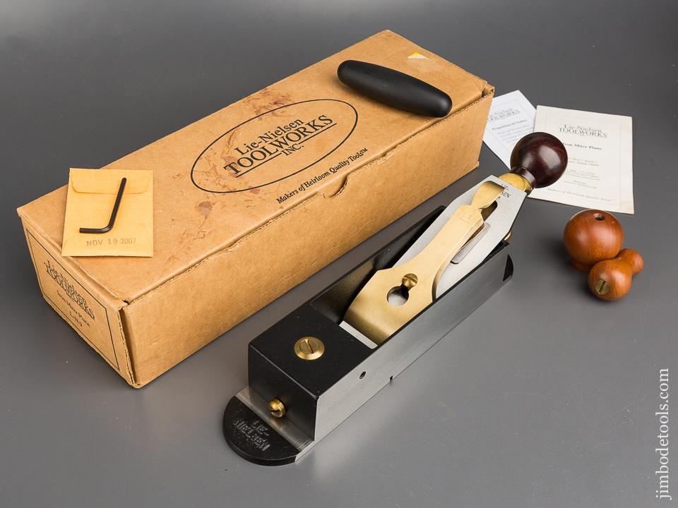 LIE-NIELSEN L-N 9 Iron Miter Plane with Cocobolo and Hot Dog in Original Box - 83475