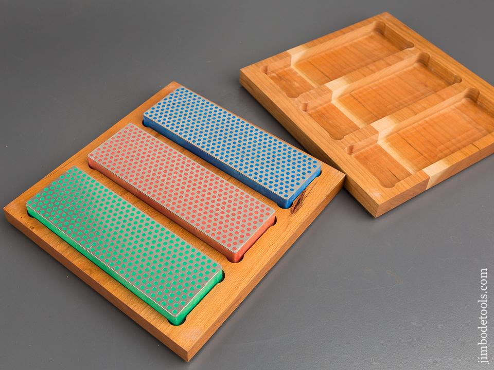Set of Three DIAMOND SHARPENING SYSTEM 2 x 6 inch Diamond Whetstones MINT in Original Box - 83482