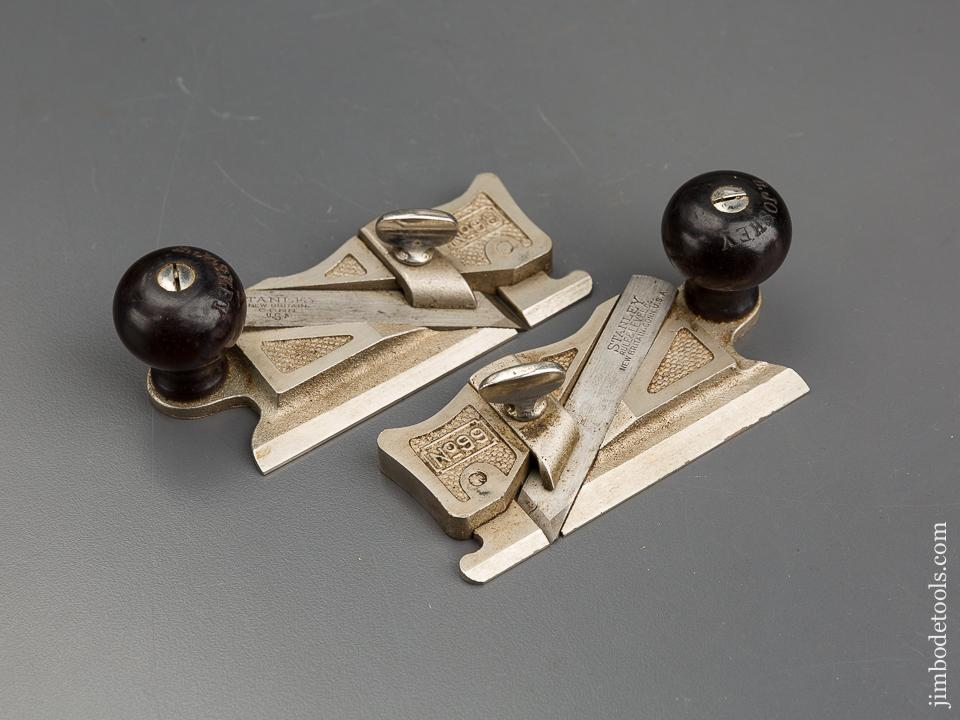 STANLEY No. 98 & 99 Side Rabbet Planes in Custom Wooden Box - 83558