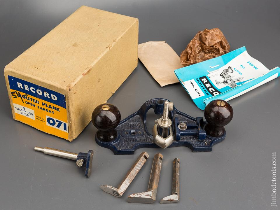 RECORD No. 071 Router Plane 100% COMPLETE in Original Box - 83562