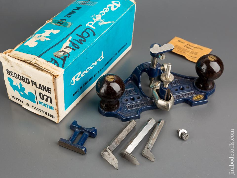 RECORD No. 071 Router Plane 100% COMPLETE in Original Box - 83589