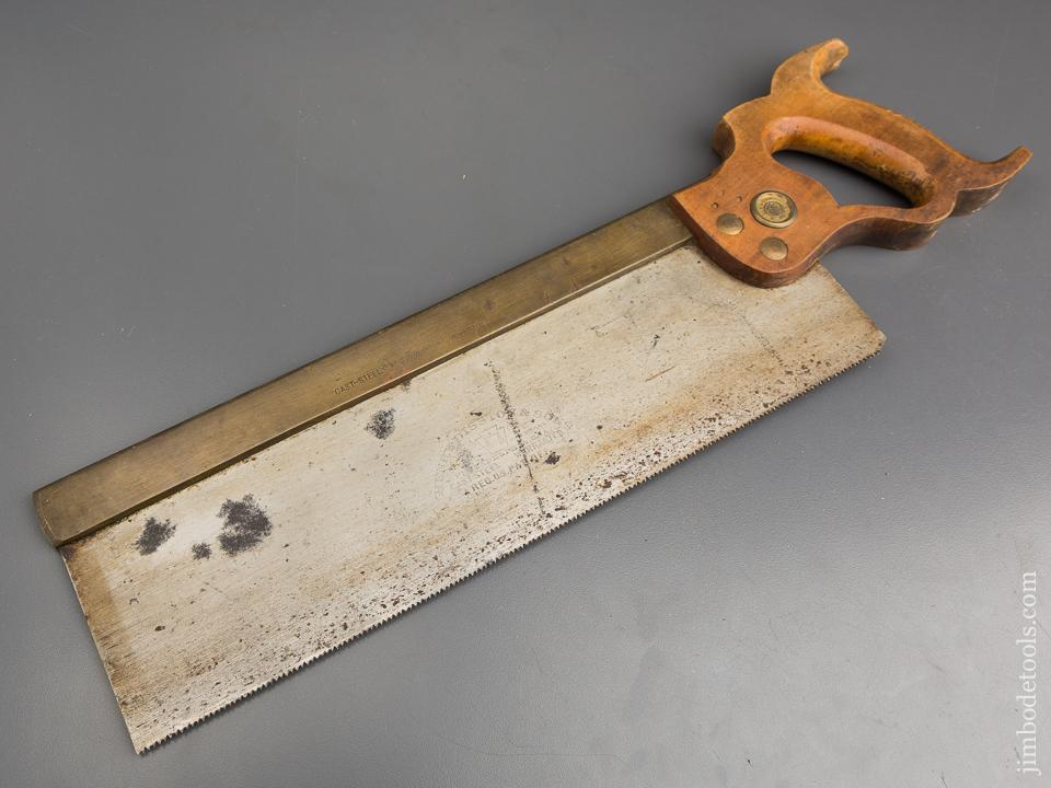 NEW OLD STOCK 13 point 14 inch UNUSED! Crosscut HENRY DISSTON & SONS PHILADA Brass Back Saw - 83597R