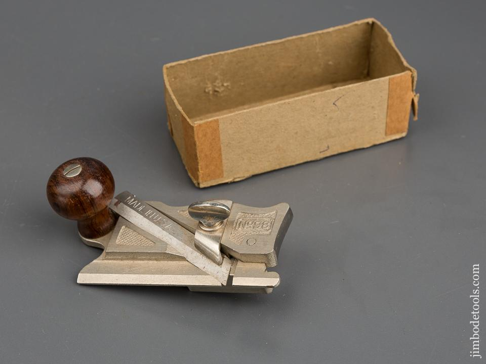 STANLEY No. 98 Side Rabbet Plane MINT with Fence in Original Box - 83607