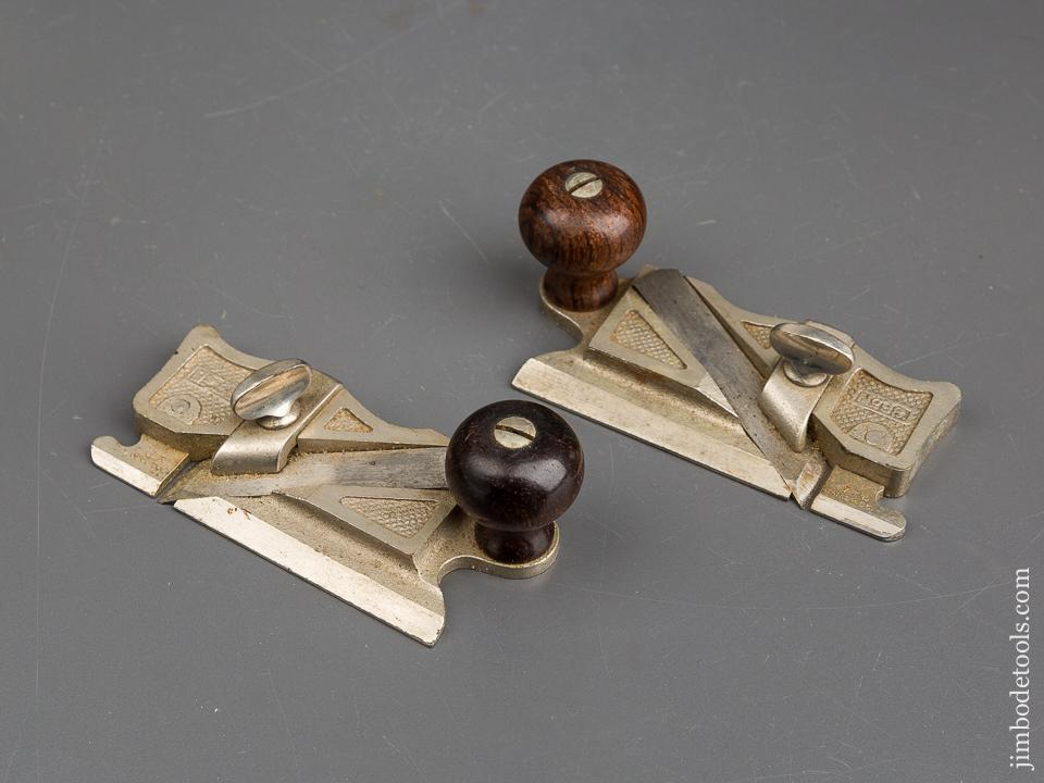 STANLEY No. 98 & 99 Side Rabbet Planes NEAR MINT - 83663