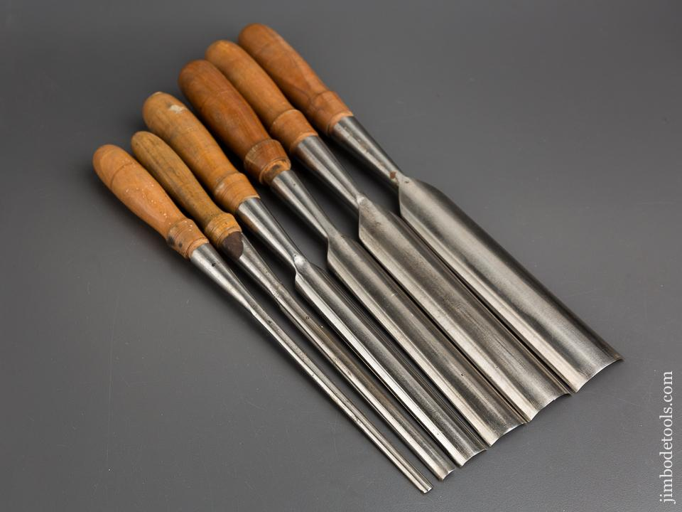 Gorgeous Set of Six BUCK BROTHERS Gouges EXTRA FINE - 83705