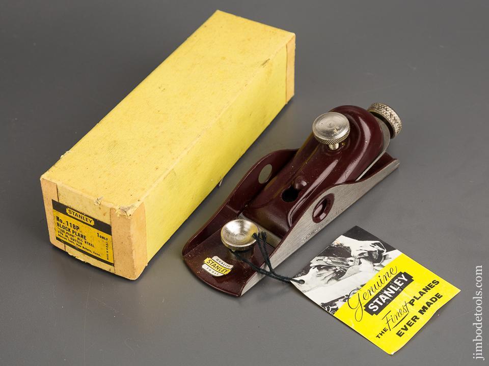 STANLEY No. 118 Low Angle Block Plane with Decal & Tag in Original Box - 83769