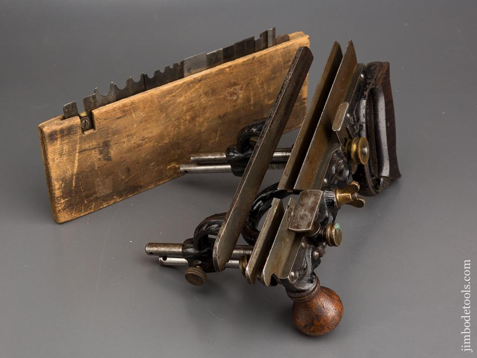 STANLEY No. 45 Combination Plane Type One circa 1884 with 18 Cutters and Two Stops - 83782